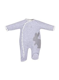 Babydolle Babydolle Tavşan Desenli Bebek Patikli Tulum-Mürdüm Babydolle Tavşan Desenli Bebek Patikli Tulum-Mürdüm